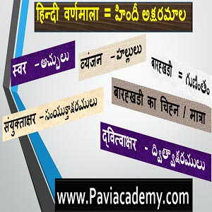Hindi Alphabet | Learn Hindi Alphabet | Hindi varnamala | Hindi varnamala from Telugu | Hindi varnamala through Telugu | www.Pavi Academy.com