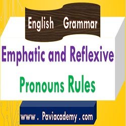 This paviacademy.com article is about Emphatic and Reflexive Pronouns Rules For Academic and Competitive Examinations With Telugu explanation - paviacademy