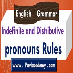 This paviacademy.com article is about Indefinite and Distributive pronouns Rules For Academic and Competitive Examinations With Telugu explanation - paviacademy