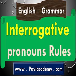 This paviacademy.com article is about Interrogative pronouns Rules For Academic and Competitive Examinations With Telugu explanation - paviacademy
