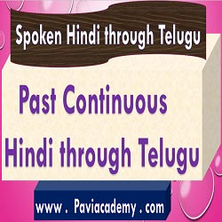 Past Continuous Hindi through Telugu For Academic and Competitive Examinations– అన్ని తరగతుల పరీక్షలకు – అన్ని పోటీ పరీక్షలకు – తెలుగు వివరణతో – హిందీవ్యాకరణము - paviacademy