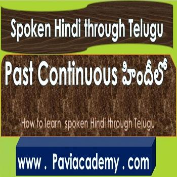 How to learn spoken Hindi through Telugu – తెలుగు వివరణతో – హిందీ వ్యాకరణము అన్ని తరగతుల పరీక్షలకు – అన్ని పోటీ పరీక్షలకు paviacademy.com ద్వారా నేర్చుకొండి