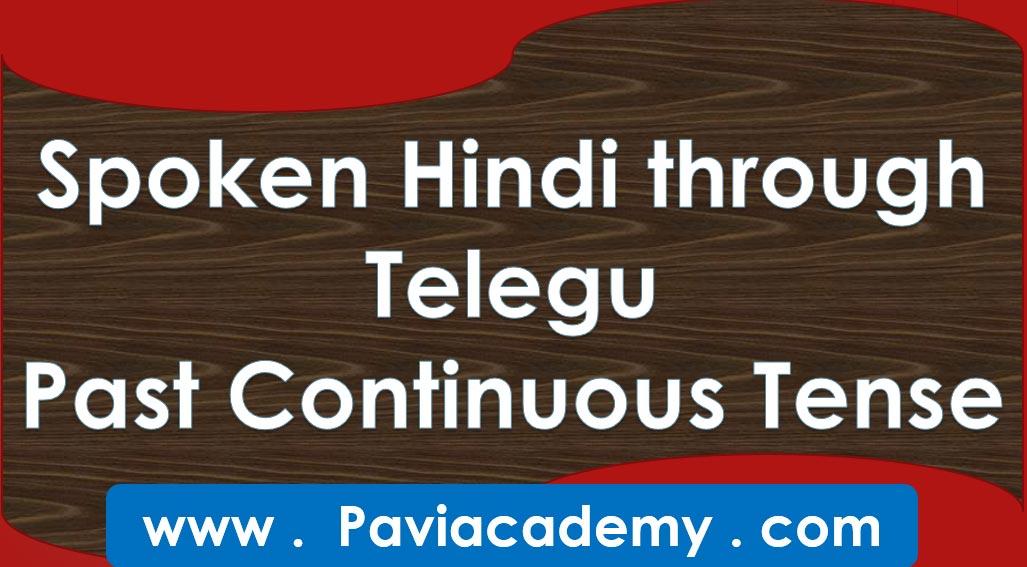 Spoken Hindi through Telugu Past continuous Tense అన్ని తరగతుల పరీక్షలకు – అన్ని పోటీ పరీక్షలకు – తెలుగు వివరణతో – హిందీ వ్యాకరణము - paviacademy