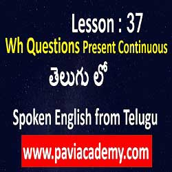 spoken english through telugu teaching І wh questions English І Spoken English from Telugu І Spoken English through Telugu І తెలుగు లో І www.PaviAcademy.com